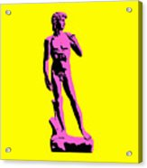 Michelangelos David - Punk Style Acrylic Print by Pixel Chimp
