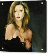 Michelle Pfeiffer Acrylic Print by Tigran Ghulyan