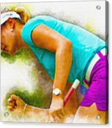 Michelle Wie Finally Won Her First Major Championship Acrylic Print