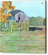 Michigan Autumn Barn Acrylic Print