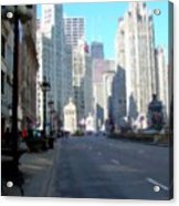 Michigan Ave Tall Acrylic Print
