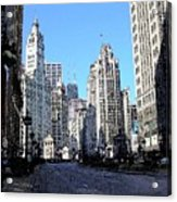 Michigan Ave Wide Acrylic Print