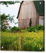 Michigan Barn Acrylic Print by Michael Peychich