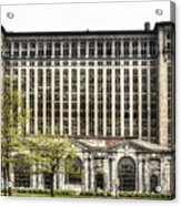 Michigan Central Station Detroit Acrylic Print