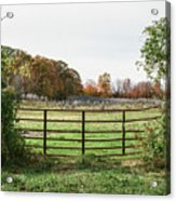 Michigan Farm And Fence  Acrylic Print