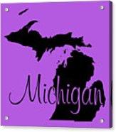 Michigan In Black Acrylic Print