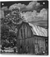 Michigan Old Wooden Barn Acrylic Print