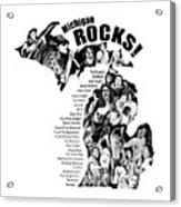 Michigan Rocks Acrylic Print