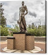 Michigan State - The Spartan Statue Acrylic Print
