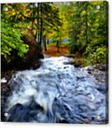 Michigan Waterfall Acrylic Print