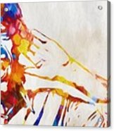Mick Jagger Abstract Acrylic Print