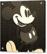 Mickey Mat Sepia Acrylic Print