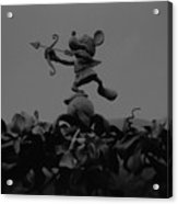 Mickey Mouse In Black And White Acrylic Print