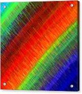 Micro Linear Rainbow Acrylic Print