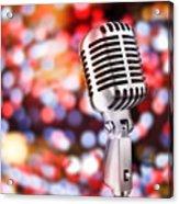 Microphone Acrylic Print