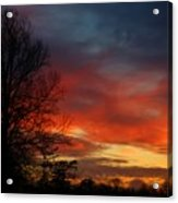 Mid-january Sunset Acrylic Print