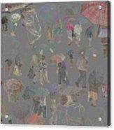 Middelkerke Umbrellas Acrylic Print