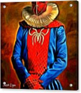 Middle Ages Spider Man Acrylic Print