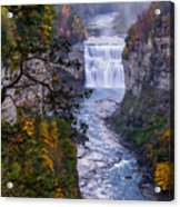 Middle Falls Letchworth State Park Acrylic Print