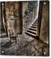 Middle Floor Seating Acrylic Print by Nathan Wright