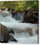Middle Provo River Cascade Acrylic Print