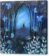 Midnight Acrylic Print by Amanda Clark