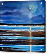 Midnight At The Beach Acrylic Print