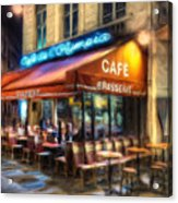 Midnight At The Brasserie Acrylic Print