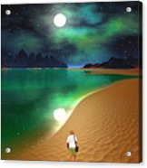Midnight Beach Walk - Sea Of Cortezz Acrylic Print