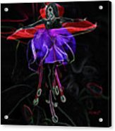 Midnight Bloom Acrylic Print