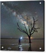 Midnight Explorer At Botany Bay Beach Acrylic Print