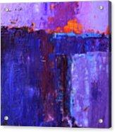 Midnight Glow Abstract Acrylic Print