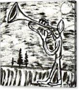 Midnight Horn Acrylic Print