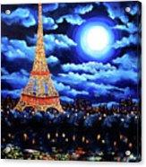 Midnight In Paris Acrylic Print