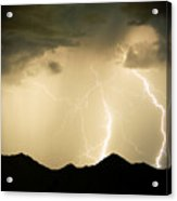 Midnight Lightning Storm Acrylic Print