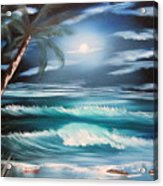 Midnight Ocean Acrylic Print