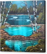 Midnight Ponds Acrylic Print