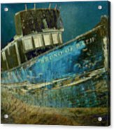 Midnight Shipwreck Acrylic Print