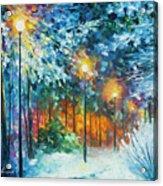 Midnight Snow Songs  Acrylic Print
