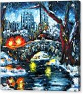 Midnight Stroll On The Gapstow Acrylic Print