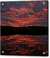 Midnight Sun In Norbotten Acrylic Print