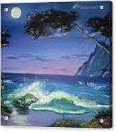 Midnight Tropicale Acrylic Print