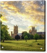 Midsummer Evening In Ely Acrylic Print