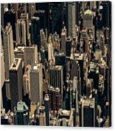 Midtown Manhattan Skyline Aerial Acrylic Print