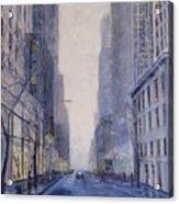 Midtown White Acrylic Print