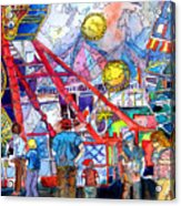 Midway Amusement Rides Acrylic Print
