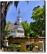Midway Congregational Church Acrylic Print