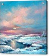 Midwest Snowfall Acrylic Print