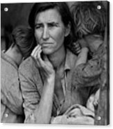 Migrant Mother, Portrait Of Florence Acrylic Print