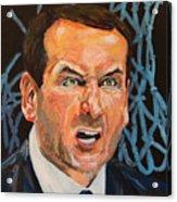 Mike Krzyzewski Aka Coach K Portrait Acrylic Print